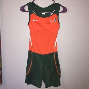 Nike University Of Miami Bodysuit Xs